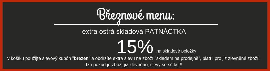 Březnové menu - dodatečná sleva 15% na skladové zásoby